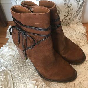 Franco Sarto L Edaline Leather Boho Booties